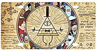 Fayotrade Gravity Falls Bill Cipher Custom Metal License Plate for Car Iron Paintings Metal Sign 15x30cm
