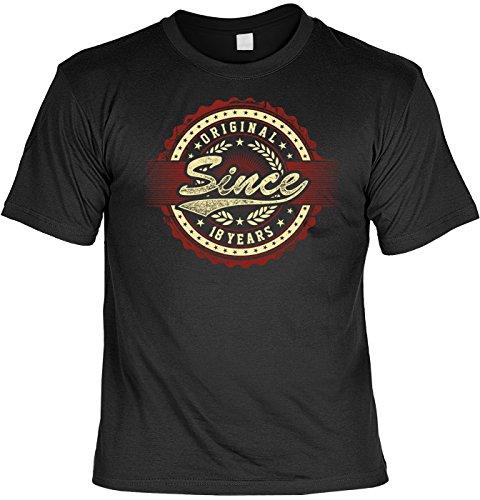 Geschenk zum 18. Geburtstag - Fun T-Shirt - Original Since 18 Years - Im Set mit gratis Mini T-Shirt - 18 Jahre