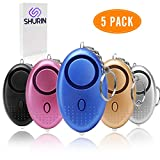 Personal Sound Alarm Keychain for Self-Defense-5-Pack Multifunctional Safe-Sound Personal Alarm for Women, Kids, Elderly-140 Decibels LED Light System for Night Security (Five)