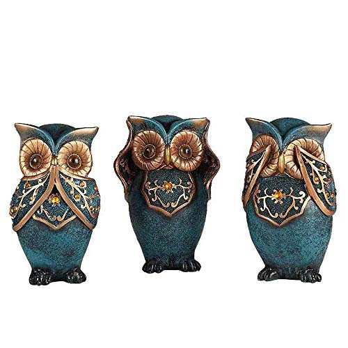 wise owls figurines
