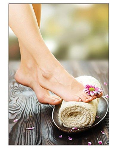 Poster Handtuch Pediküre Fusspflege DIN A3 Nagelstudio Nageldesign Nailart Wandgestaltung Kosmetik Nails 29,7x42,0cm