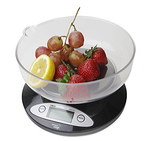 Smart Weigh CBS5KG Báscula Digital para Cocina con tazón removible...