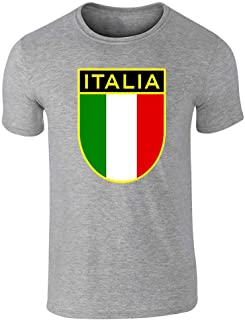 Italy Soccer National Team Retro Crest Graphic Tee T-Shirt for Men