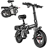 Electric Bike for Adults & Youth - Folding Electric Dirt Bike - E-Bike Scooter | 14'' 250W Ebike w/LCD Display, 3 Mode, Lightweight | Foldable Electric Bicycle, Electric Scooter for Outdoor Commute