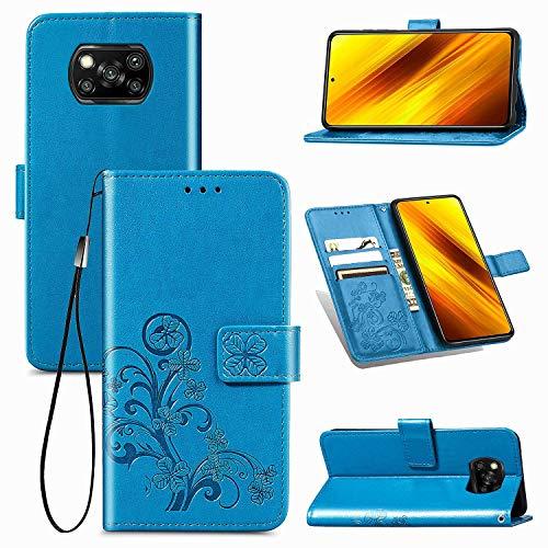 Larook Funda para iPhone 12 Pro Max, diseño de mariposas, estilo cartera con función atril y carcasa magnética de poliuretano para iPhone 12 Pro Max-blue4