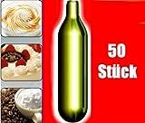 NEMT 50s 50 Stück N2O Sahnekapseln für handelsüblichen Sahnebereiter von Liss, Mosa, iSi, Kayser, Mastrad