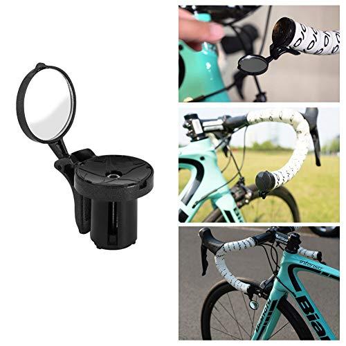 Luckine Espejo retrovisor Seguro para Bicicletas, Espejo retrovisor para Bicicleta Espejo de Extremo de Manillar de Bicicleta Ciclismo de Carretera Espejos retrovisores Flexibles