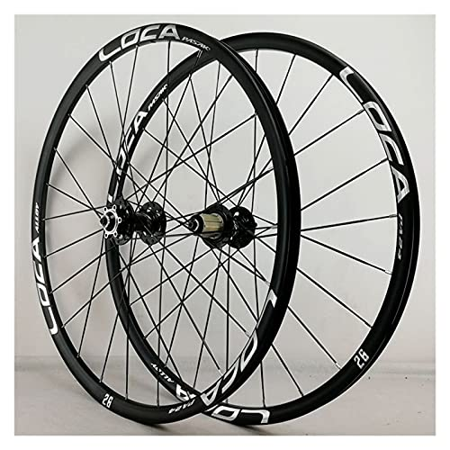 zyy Juego Ruedas Bicicleta 26 27.5 29 Pulgadas MTB Aleación Llanta Doble Pared 24H QR Freno Disco para Casete 8 9 10 11 12S (Color : Black, Size : 29in)
