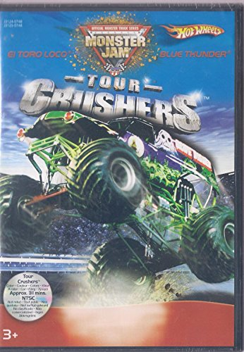 HotWheels DVD Pack Monster Jam Tour Crushers El Toro Loco VS Blue Thunder with Vehicle Blue Thunder