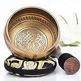Silent Mind ~ Ensemble de bols de chantant tibétain ~ Design de Mantra ~ Maillet à...