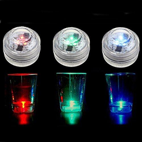 Bazaar Waterdichte mini LED kleurrijke ronde kaars onder water licht lamp