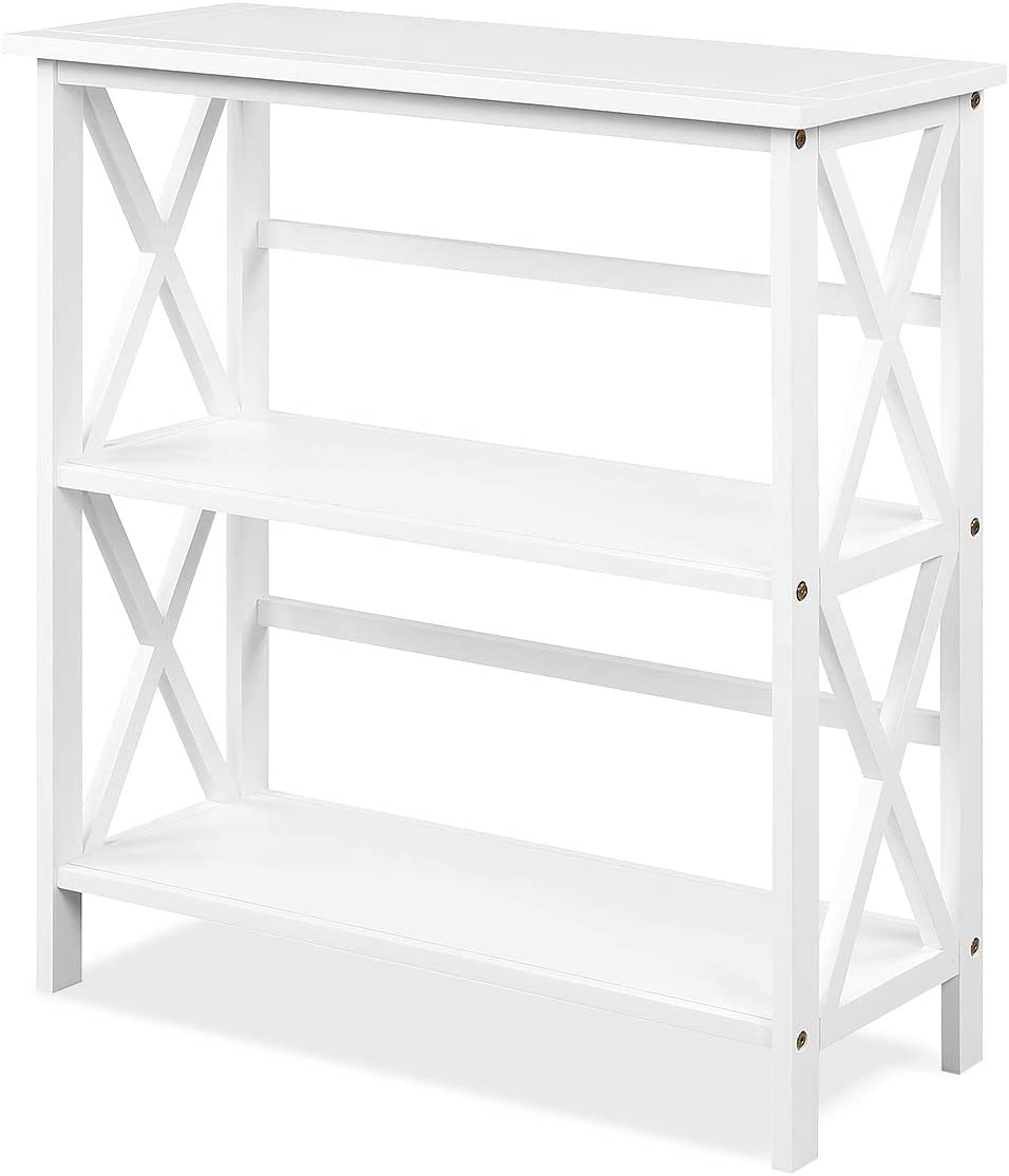 Tangkula 3-Tier free shipping Bookcase and Bookshelf Bookca Wooden Shelf Ranking TOP14 Open