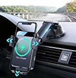 2021 Upgraded Wireless Car Charger,15W Qi Fast Charging Car Phone Holder Mount Charger,Auto Clamping Alignment Cell Phone Holder for Dashboard,for iPhone 12 pro/12/11/XS/8,Galaxy S20/S20+ and More