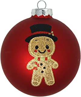 kat + annie Ornament The Gingerbread Man Gold, Red, Black