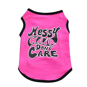 Ollypet Pink Shirt for Small Dogs Girl Puppy Clothes Pets Dog Cute Funny Cotton Unique