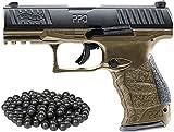 T4E Walther PPQ M2 (GEN2) .43cal CO2 Semi Auto Blow Back Paintball Pistol - FDE w/Free 50 Rubber Balls