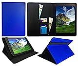 Archos 101e Neon 10.1 Inch Tablet Blau Universal Wallet Schutzhülle Folio ( 10 - 11 zoll ) von Sweet Tech