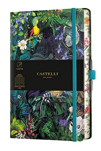 Castelli Milano EDEN Lily Taccuino 13x21 cm Pagina a Righe Copertina Rigida 224 Pag