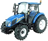 Universal Hobbies- Tracteur New Holland T4.65-Echelle 1/32, UH5257, Bleu