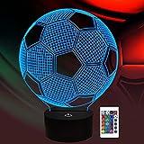 ThinkLess Soccer Night Light for Kids, 3D Illusion Lamp 16...