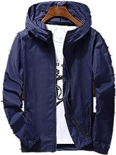 Men Waterproof Wind Breaker Coat Zipper Hoodie Jacket Quick Drying Sport