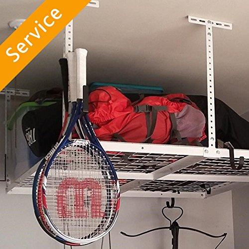 Overhead Garage Storage Installation - Up to 4X8 - 2 Units