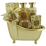 Gloss - caja de baño, caja de regalo para mujeres - Bañera de Baño Regalo - Luxe - Flores y Almizcle