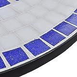 vidaXL Mosaik Gartentisch Ø 60cm Beistelltisch Mosaiktisch Tisch Gartenmöbel - 4