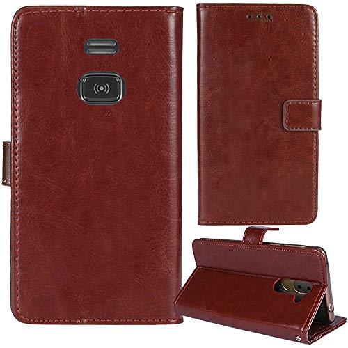 Lankashi Premium Retro Business Flip Book Stand Brieftasche Leder Tasche Schütz Hülle Handy Handy Hülle Für Doro PhoneEasy 508 1.8