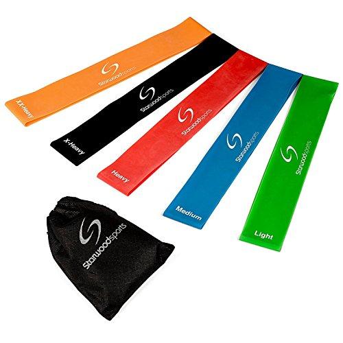 Queta 5er-Set Widerstandsband Fitness-Übungsbänder für Fitness-Workouts Yoga und Krafttraining