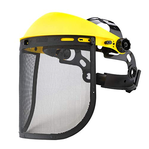 NEIKO 53876A 2-in-1 Face Shield Protector   Includes Steel Mesh & Clear Polycarbonate Shields   For Outdoor Work, Operations, Automotive, Construction, Home Improvement
