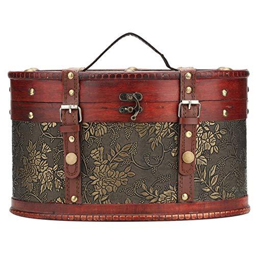 Semiter 【Muttertagsgeschenk】 Aufbewahrungsbox, Vintage Holz Aufbewahrungsbox Schmuckbehälter Organizer...