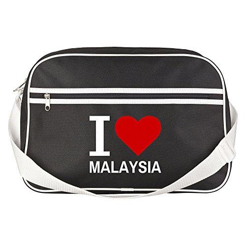 Bolso Retro Classic I Love Malasia colour negro