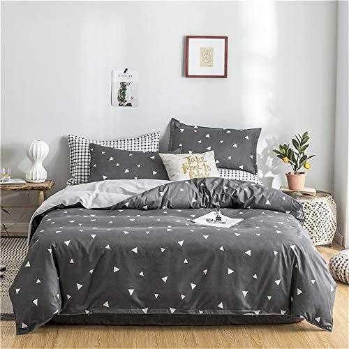 MMHJS Vier Jahreszeiten Universal Bettwäsche Bettbezug Bettdecke Kissenbezug 4-Teiliger Moderner Minimalistischer Stil, Geeignet Für Schlafzimmer Zu Hause