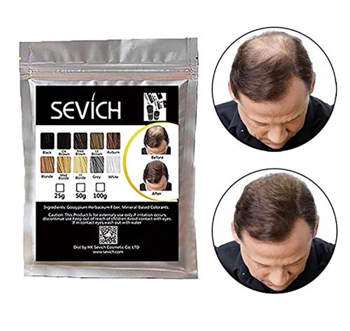 定期的なアプライアンスポケットヘアビルディング 増毛パウダー ミディアムブラウン Medium Brown 100g 詰め替えパック/薄毛対策 白髪 ハゲ隠し Hair Fibers