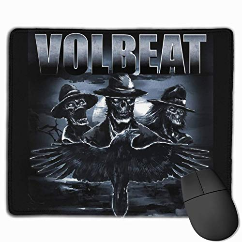 Volbeat Poster Kundenspezifisches Rechteck rutschfestes Gummi-Mauspad-Gaming-Mauspad 30 x 25 cm (11,8 × 9,8 × 0,12 Zoll)