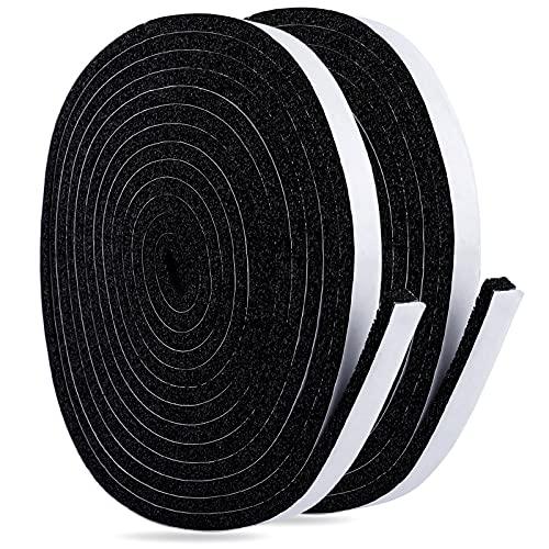 UCEC 隙間テープ 2本 冷暖房効率アップ 防音テープ 防風 窓 網戸 防音 防水 気密 断熱 絶縁 緩衝材 12mm (幅) x 6mm (厚さ) x 4m (長さ)