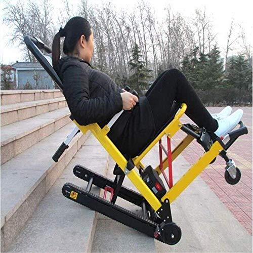 WXDP Silla de Ruedas autopropulsada,Escaleras Que suben tripuladas eléctricas Scooter para Ancianos Arriba Escalada eléctrica