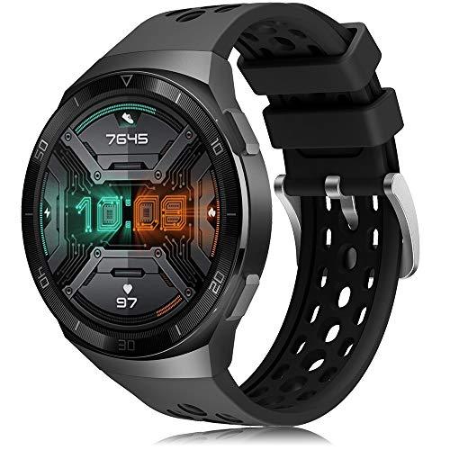 YASPARK Compatibile con Huawei Watch GT 2e Cinturino, Silicone Braccialetto Sportivo Banda Due Colori DesignRicambio Cinturino per Huawei Watch GT 2e