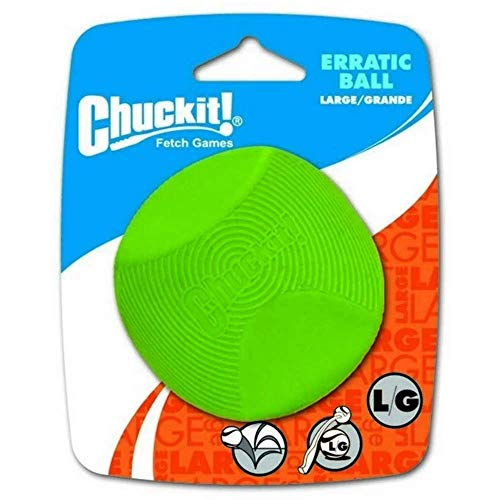 Chuckit! 20130 Erratic Ball Large, 1 Pelota para Perros Compatible con el...