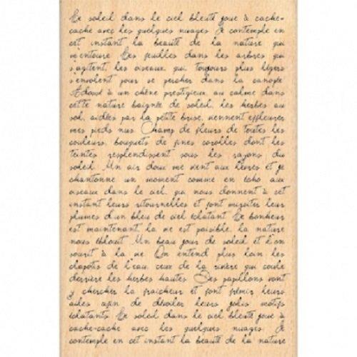 Florilèges FHA208074 Sello Diseño Scrapbooking Texto manuscrito Beige 15 x 10 x 2,5 cm