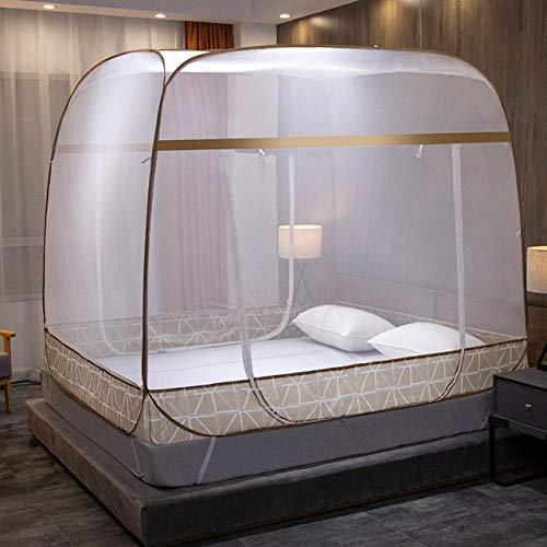 JINBAOYA-Mosquitera para cama plegable, tela a prueba de mosquitos totalmente automática, mosquitera...