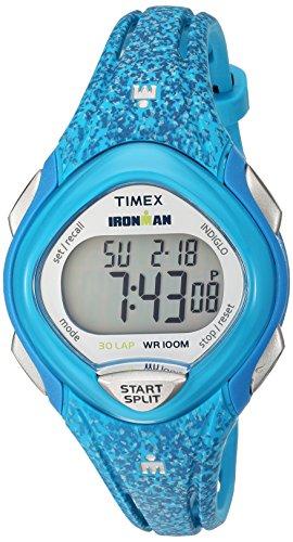 Timex Damen-Armbanduhr 35mm Armband Harz Blau + Gehäuse Batterie TW5M08800