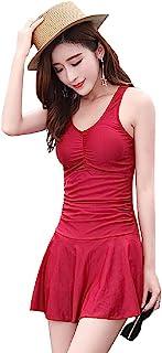Women's Girl's One Piece Swim Dress Tummy Control Ruched Swimsuits Plus Size Bathing Suits Big Size Swimwear Swim Set