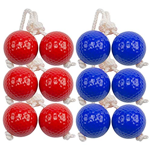 GSE Games & Sports Expert Ladder Golf Ball Toss Game Replacement Ladder Balls Set, 6-Pack Tournament Quality Bolos Bolas with Real Golf Balls