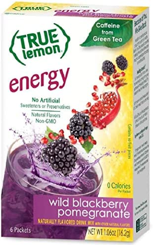True Citrus Lemon Energy Wild Blackberry Pomegranate 6 Count Pack of 12 product image