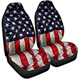 VTH GLOBAL 3D USA American Flag Seat Covers Car Accessories Size Universal Fit for Trucks Cars