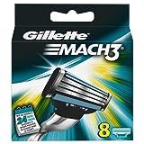 Gillette - Ancienne version - Lot de 8 lames de rasoir Mach 3