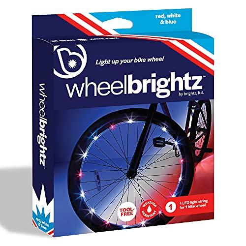 Brightz Wheelbrightz LED Ruota di Bicicletta di Luce (per 1Ruote), Patriotic