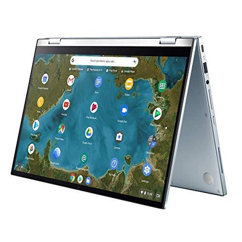 ASUS Chromebook Flip C433TA (90NX02G1-M01410) 35,5 cm (14 Zoll, Full HD, IPS-Level, NanoEdge, Touch) Notebook (Intel Core i5-8200Y, Intel HD-Graphics 615, 8GB RAM, 128GB eMMC, Chrome OS) Silver